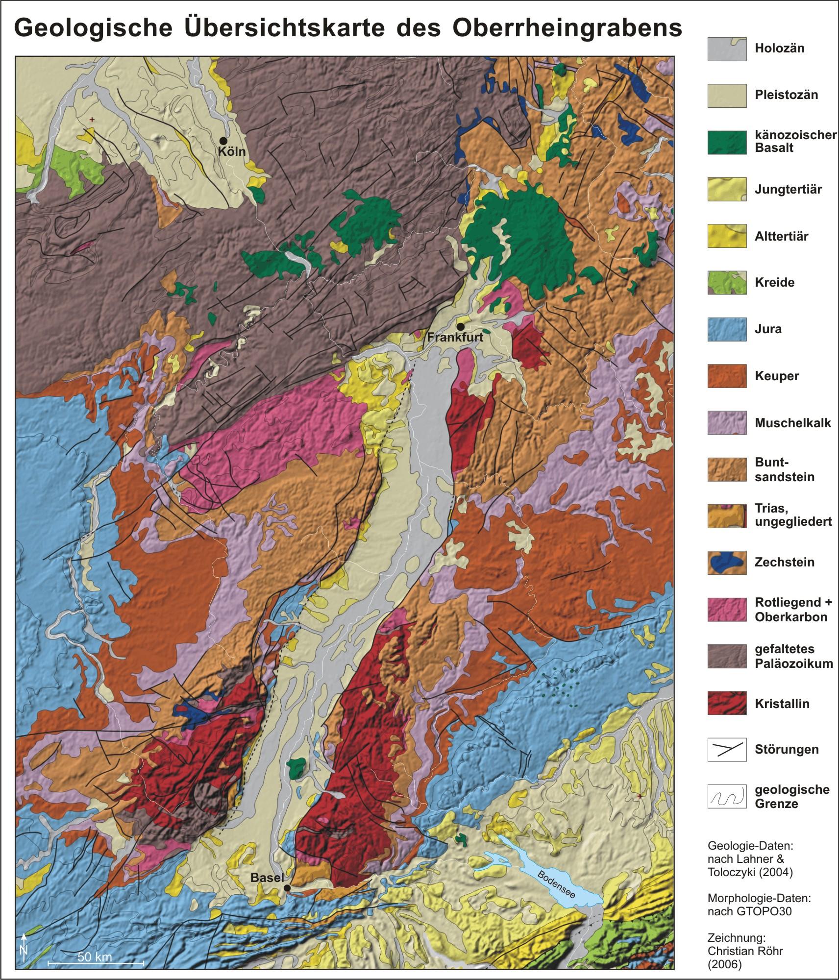 geologische karte baden württemberg Geologische Karte des Oberrheingrabens geologische karte baden württemberg