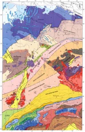 tektonische karte deutschland Erläuterungen zur tektonische Karte von Deutschland